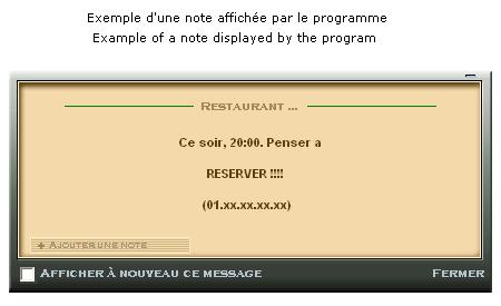 Capture d'écran Remember notes