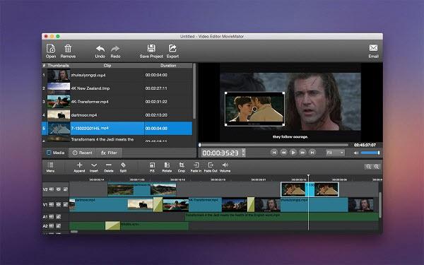 Capture d'écran MovieMator Video Editor