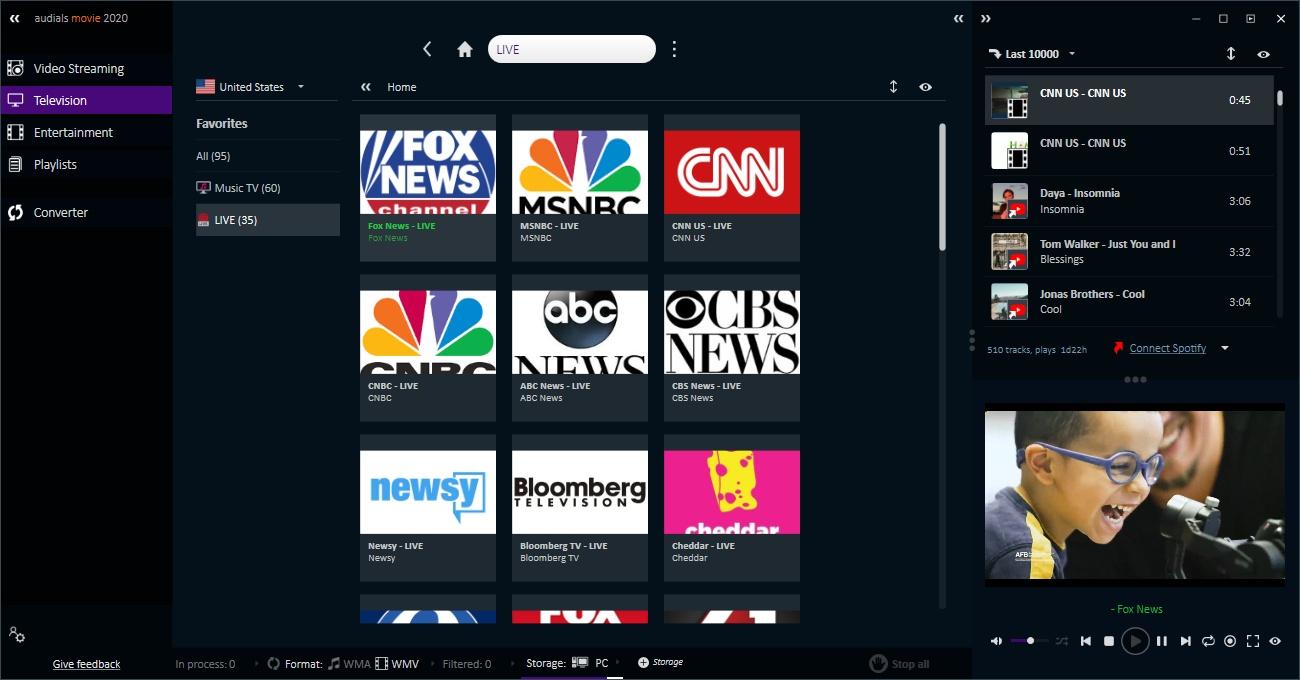 Capture d'écran Audials Tunebite Platinum
