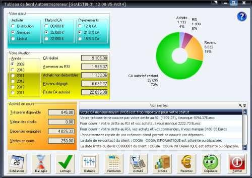 Capture d'écran Gestion Cogia Auto-Entreprise