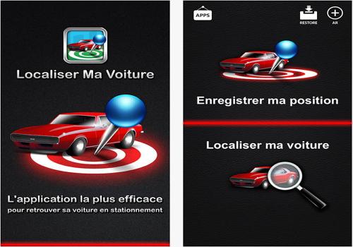 Capture d'écran Localiser Ma Voiture iOS