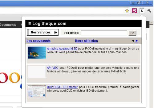 Capture d'écran Logitheque pour Chrome