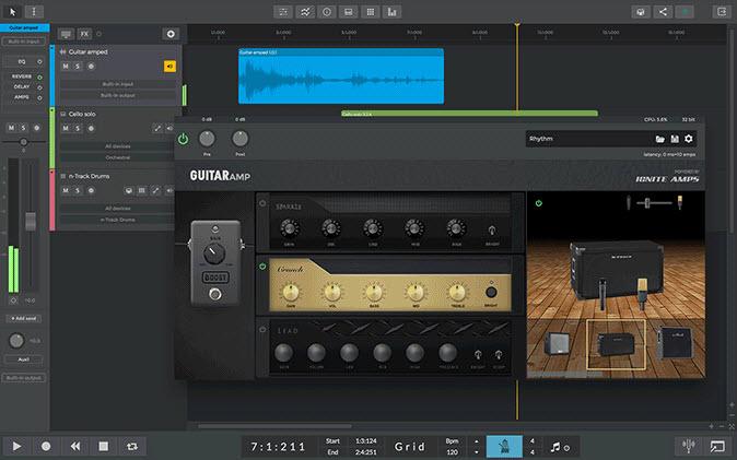Capture d'écran n-Track Studio