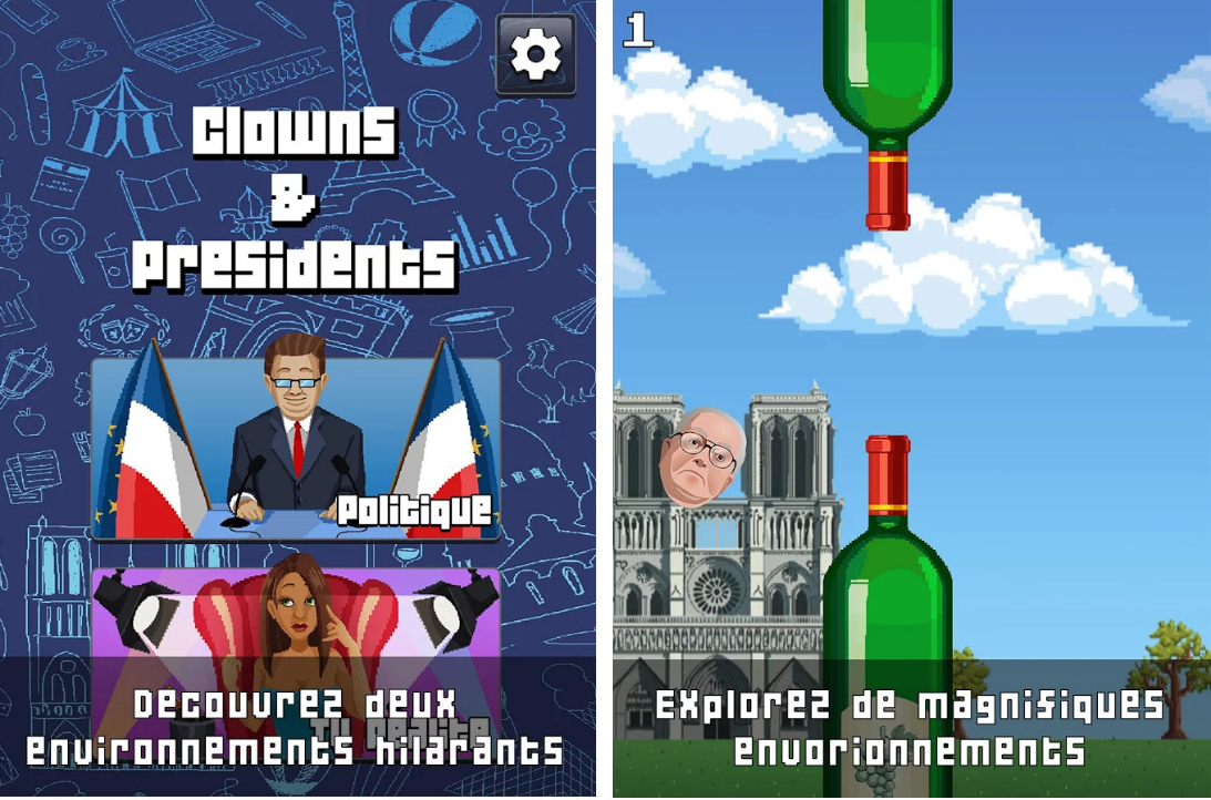 Capture d'écran Clowns & Présidents Android