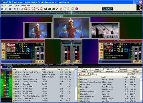 Capture d'écran OtsAV TV