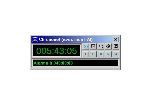 Capture d'écran Chrononet