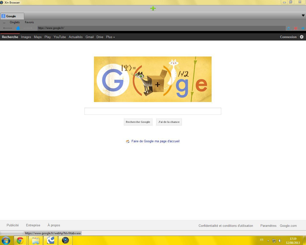 Capture d'écran Xin Browser