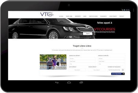 Capture d'écran VTC Paris