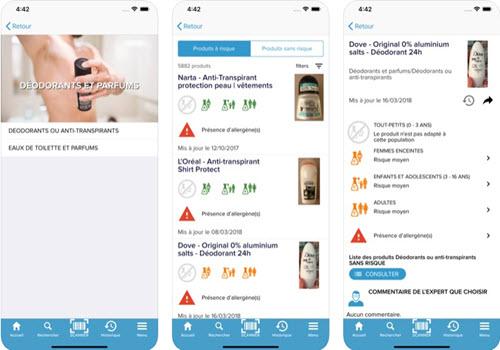 Capture d'écran QuelCosmetic Android