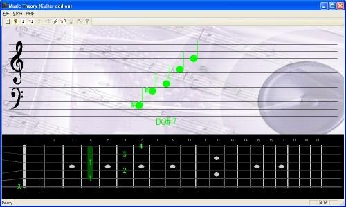 Capture d'écran Solfège et accords de guitare