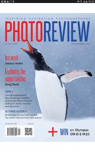 Capture d'écran Photo Review Magazine