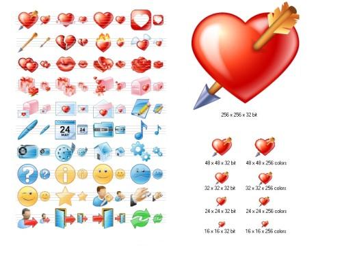 Capture d'écran Love Icon Set