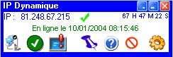 Capture d'écran IP Dynamique 2.50
