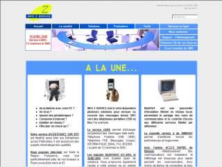 Capture d'écran IZS-SMS