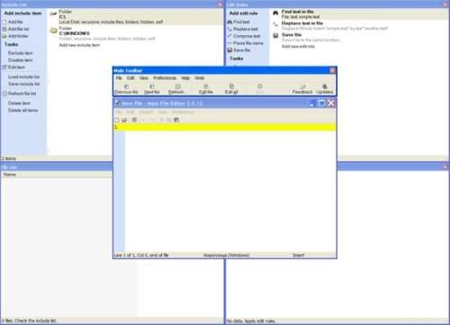 Capture d'écran Mass File Editor