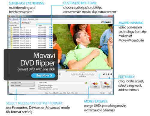 Capture d'écran Movavi DVD Ripper