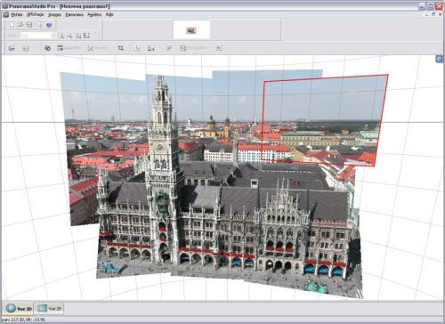 Capture d'écran PanoramaStudio Pro