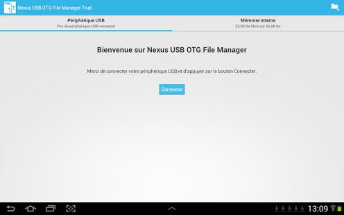 Capture d'écran Nexus USB OTG FileManagerTrial