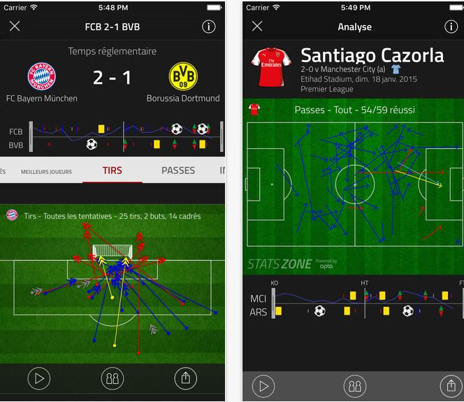 Capture d'écran FourFourTwo Football Stats Zone Android