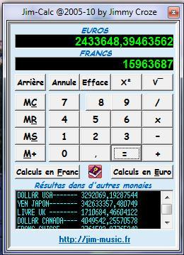 Capture d'écran JimCalc