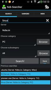 Capture d'écran Nzb Searcher Trial (Newznab)