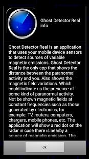 Capture d'écran Ghost Detector Real