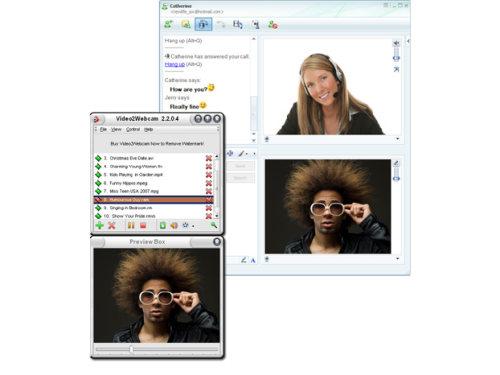 Capture d'écran Video2Webcam