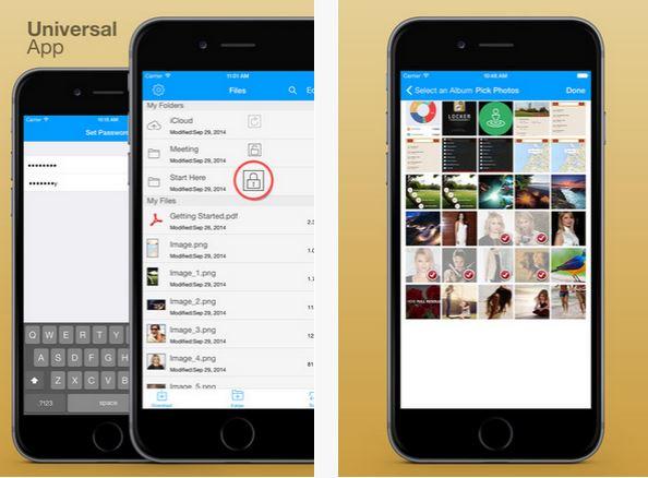 Capture d'écran Secret Folders Pro iOS