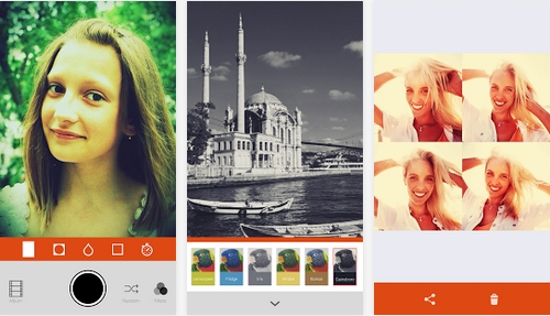Capture d'écran Retrica Android
