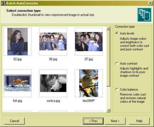 Capture d'écran Batch AutoCorrector