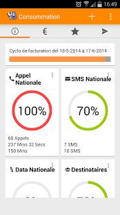 Capture d'écran Suivi Conso Mobile
