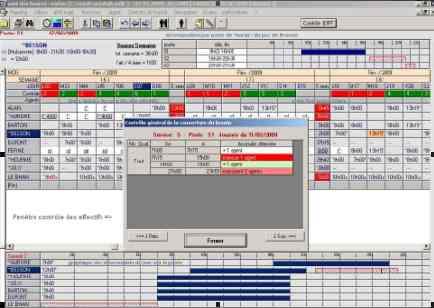 Capture d'écran Logiciel de planning Orplan-SHP