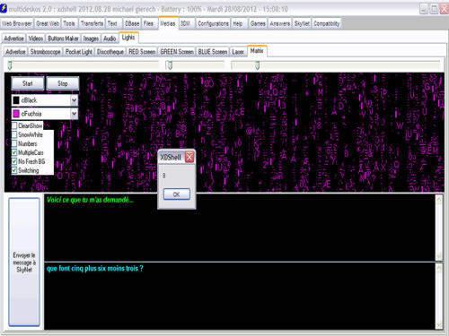 Capture d'écran MultiDeskOS