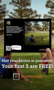 Capture d'écran Postagram Carte Postale