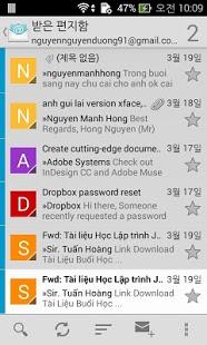 Capture d'écran Boîte aux lettres Email rapide