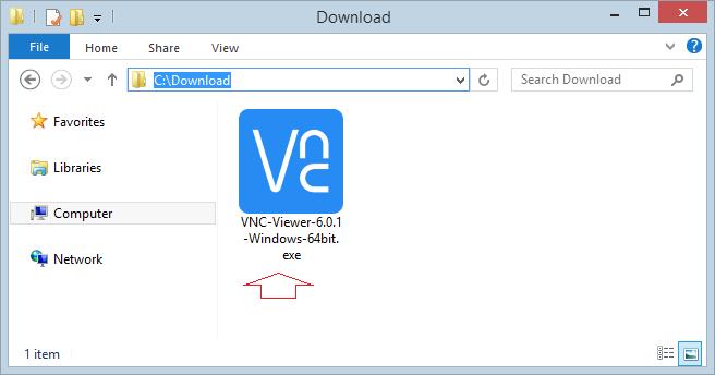 Capture d'écran VNC Viewer