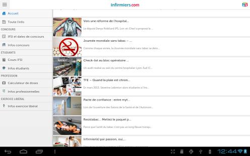 Capture d'écran Infirmiers.com