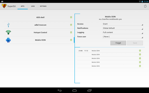 Capture d'écran SuperSU Pro