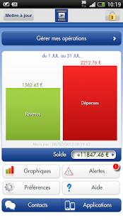 Capture d'écran Suivi Budget