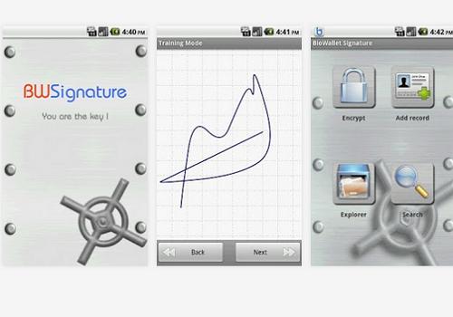 Capture d'écran BioWallet Signature Android
