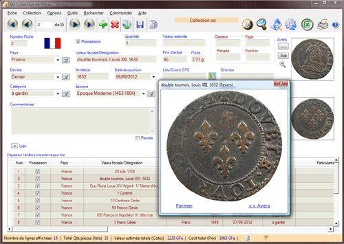 Capture d'écran Ma Collection de Monnaies