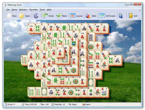 Capture d'écran MahJong Suite