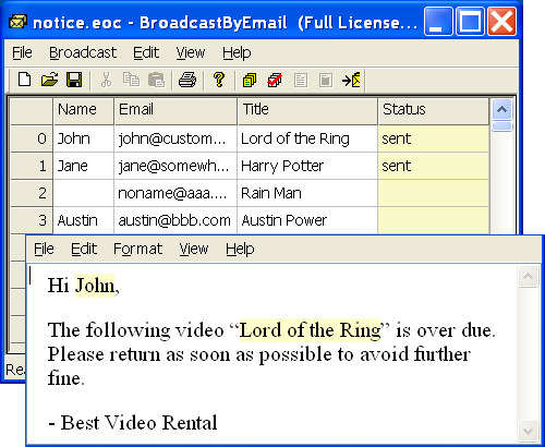 Capture d'écran Free Email Marketing: Broadcast By Email