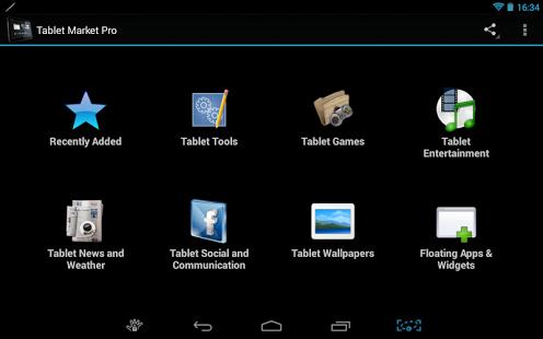 Capture d'écran Marché Tablet
