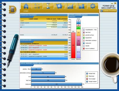 Capture d'écran POINKA Mes Comptes