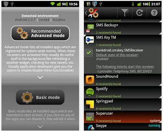 Capture d'écran Autorun Manager Android