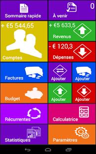 Capture d'écran Home Budget Manager (français)