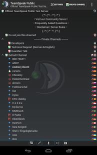 Capture d'écran TeamSpeak 3