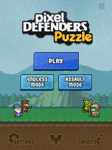 Capture d'écran Pixel Defenders Puzzle