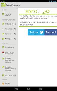 Capture d'écran Actualités Android